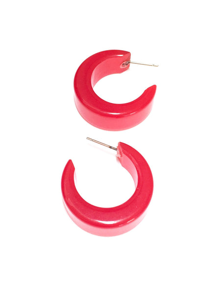 cherry red lucite earrings