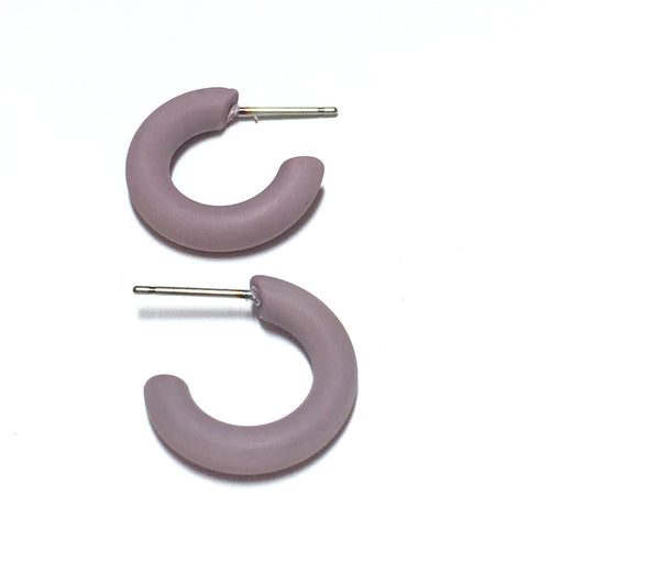 small purple hoops