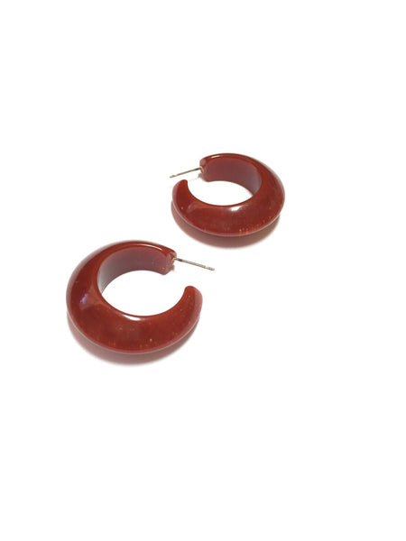 rusty hoop earrings