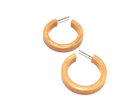 marbled peach hoops