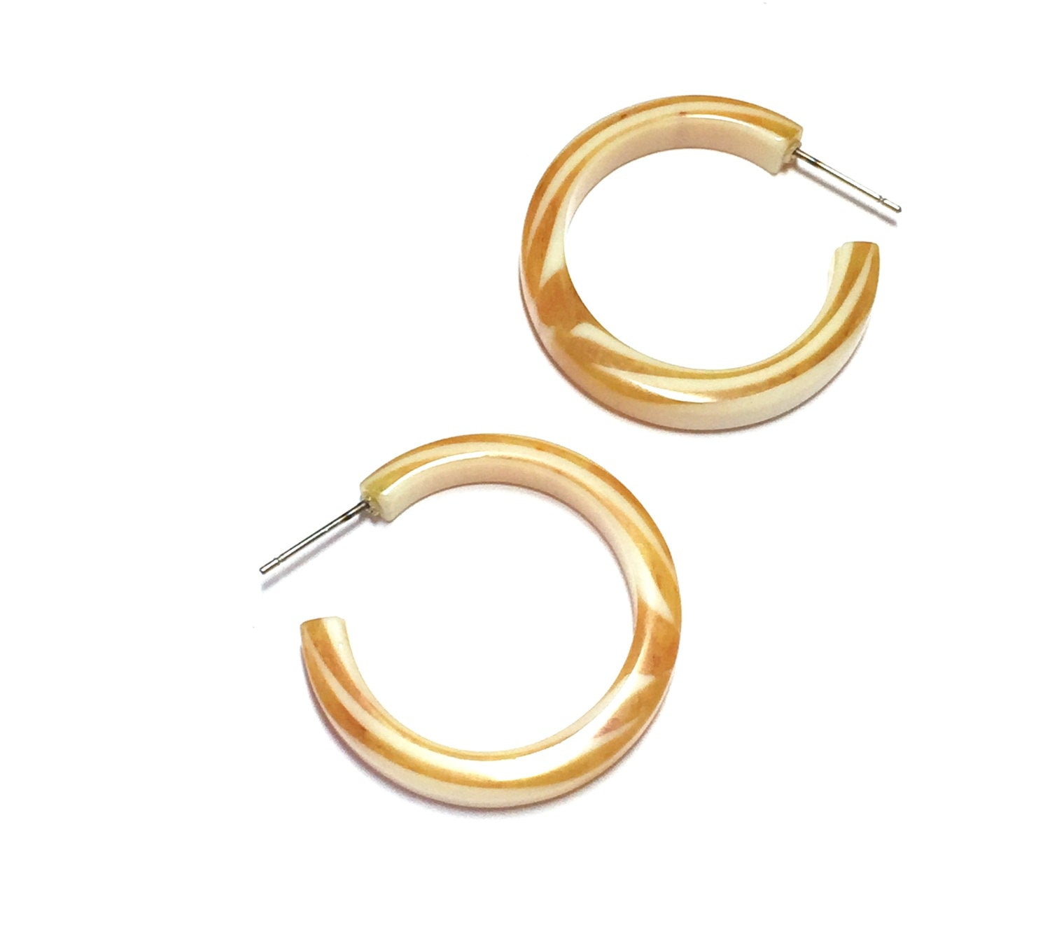 yellow marbled hoops