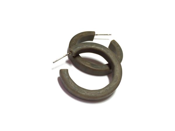 Retro khaki brown Hoop