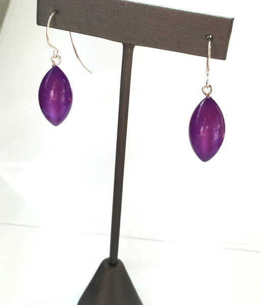 big purple earrings