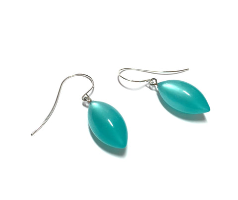 teal moonglow drop earrings