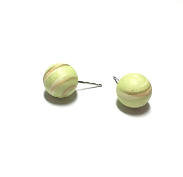 lime gold studs