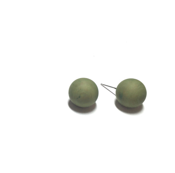 olive green lucite earrings