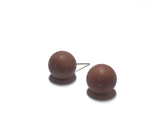 dark brown stud earrings