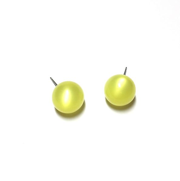 yellow moonglow post earrings