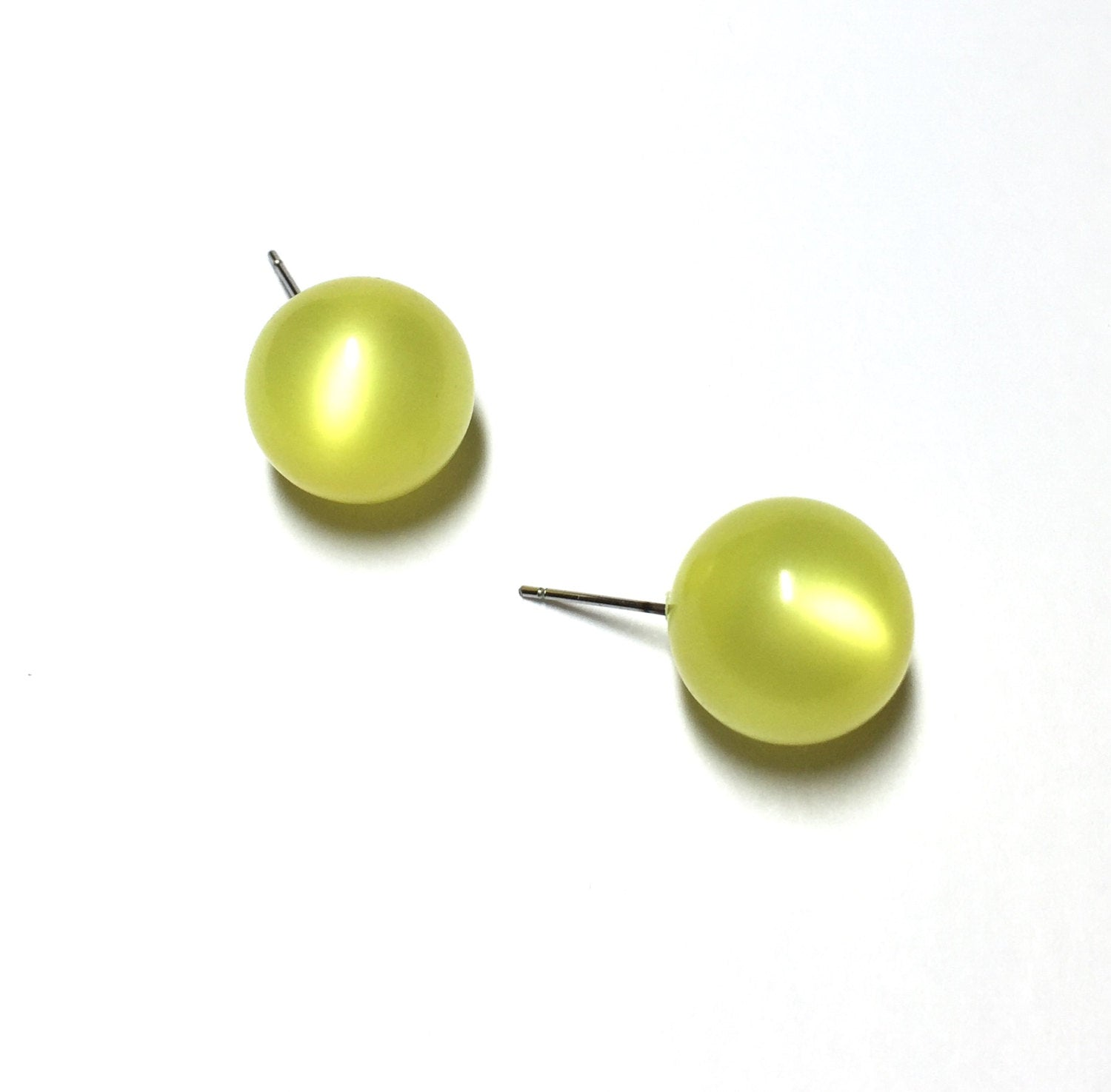 yellow moonglow earrings