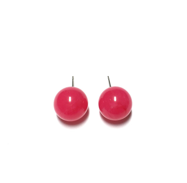 hot pink stud earrings