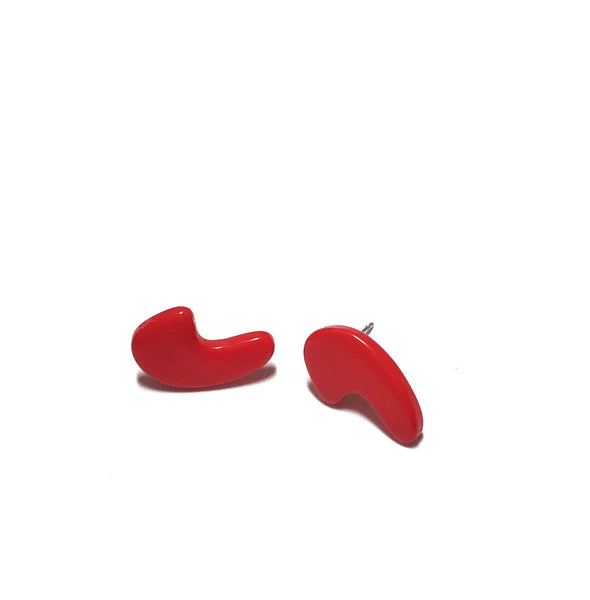 cherry red punctuation studs