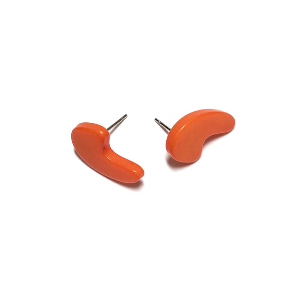 bright orange comma studs