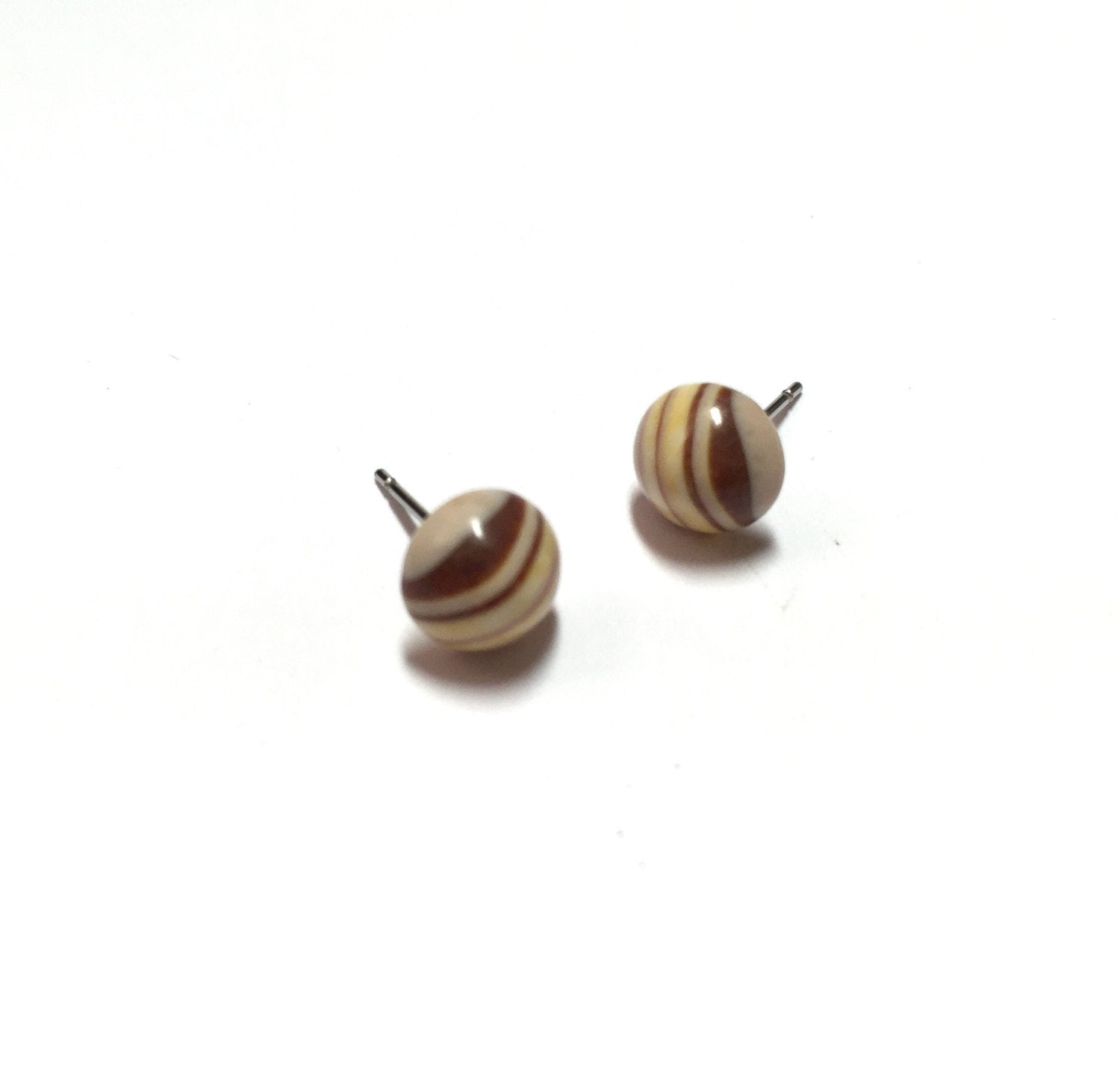 striped stud earrings