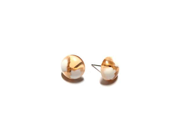 taupe stud earrings
