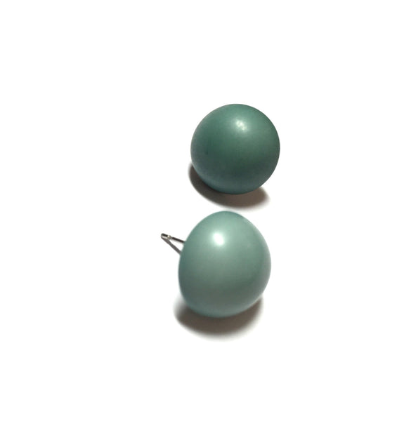 teal retro stud earrings