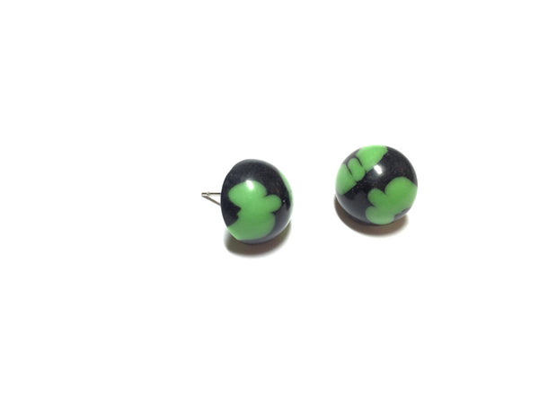 black green earrings