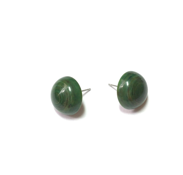 swirled green fun earrings