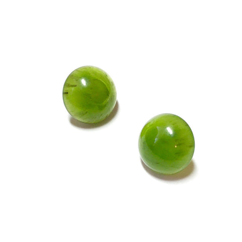 emerald stud earrings