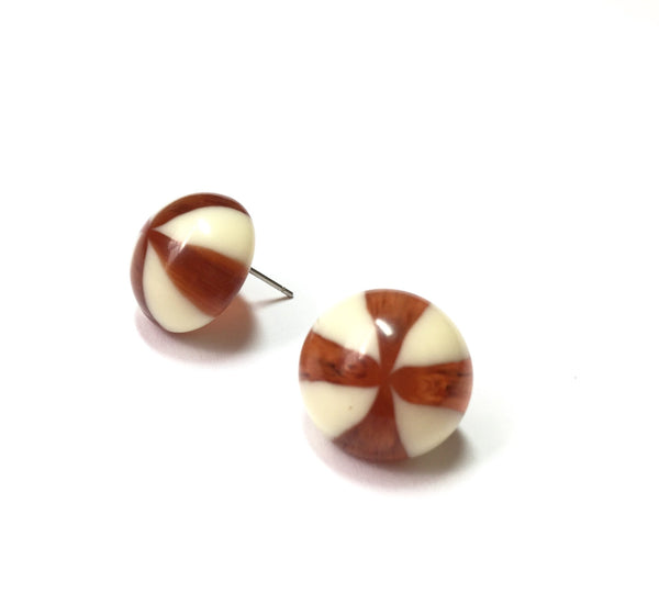 stripe earrings candy tortoise