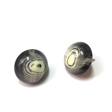 black ivory stud earrings
