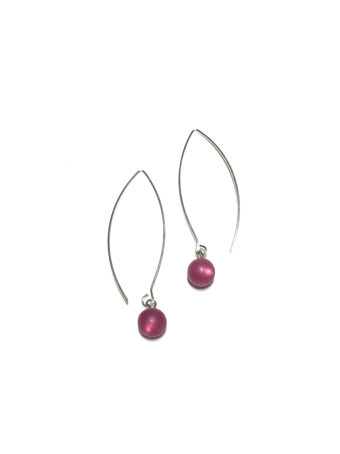 merlot raindrop earrings