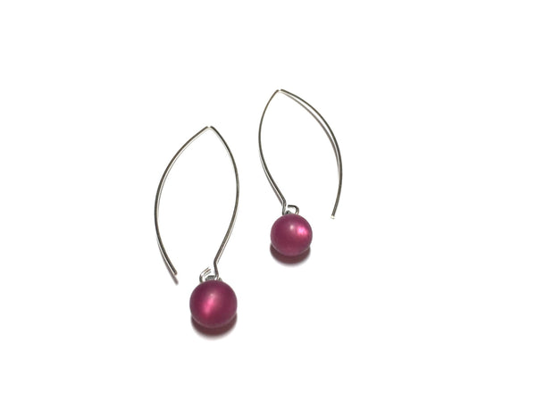deep mauve drop earrings