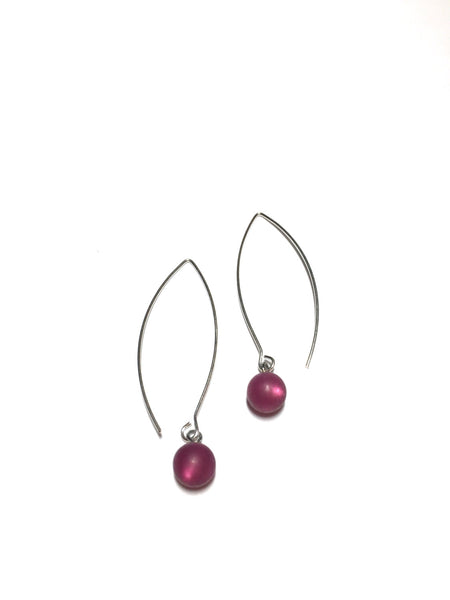 long wine earrings