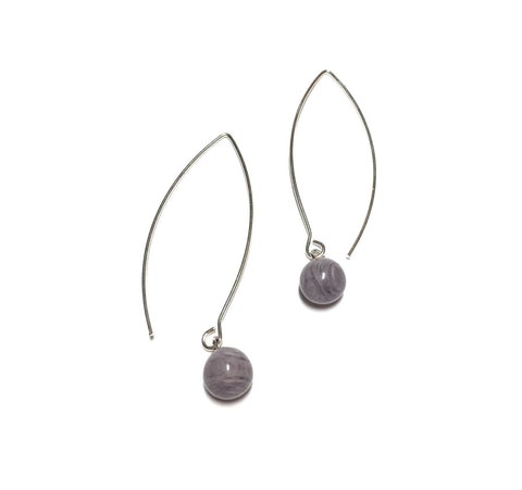 marbled grey earrings
