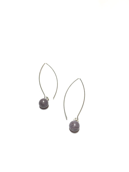 long grey drop earrings