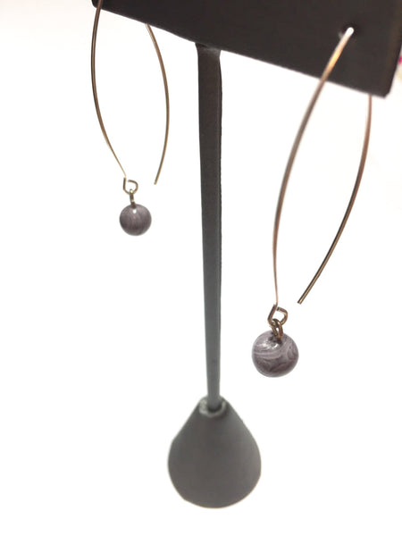 grey lucite drop earrings