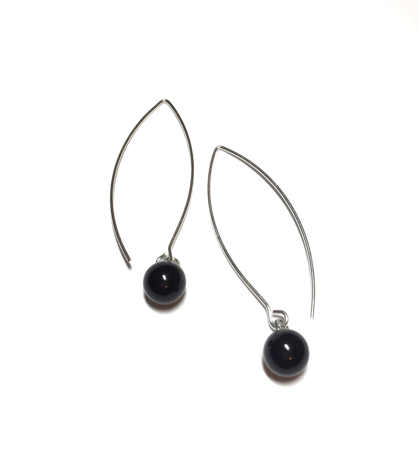 long black earrings