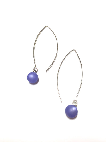 minimalist blue earrings