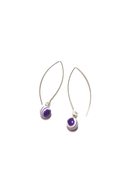 long dark purple earrings
