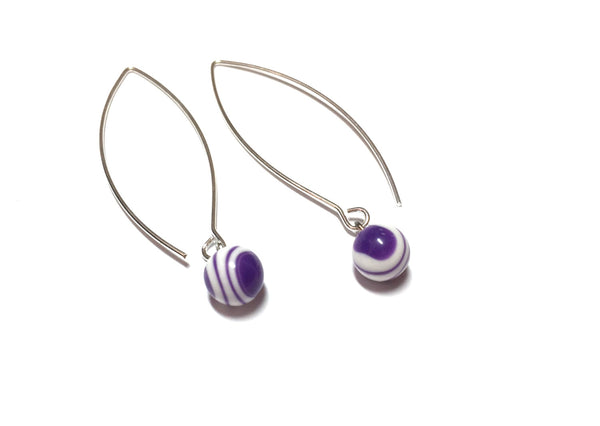 long purple drop earrings