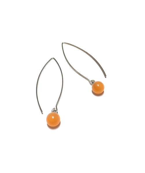 peach moonglow earrings