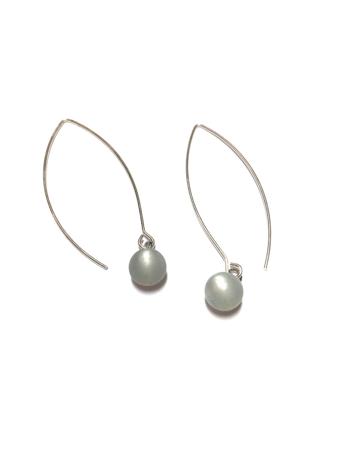 grey raindrop earrings