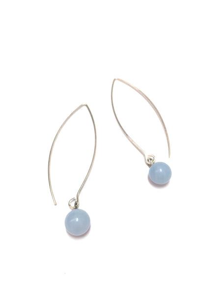 pastel blue drop earrings