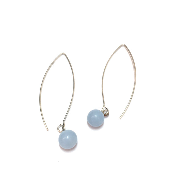 blue long earrings