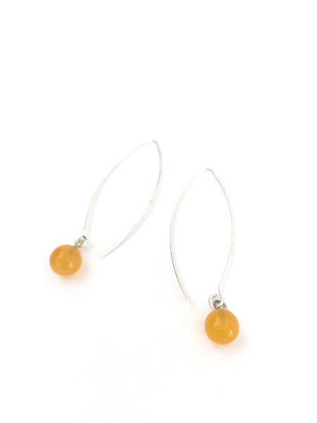 Light Amber RainDrop Earrings