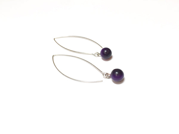 long purple earrings