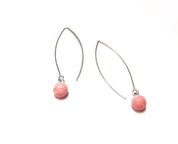 long pink earrings
