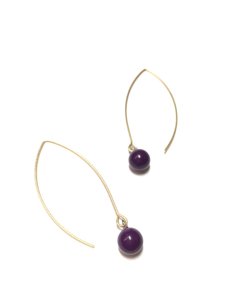 eggplant raindrop earrings