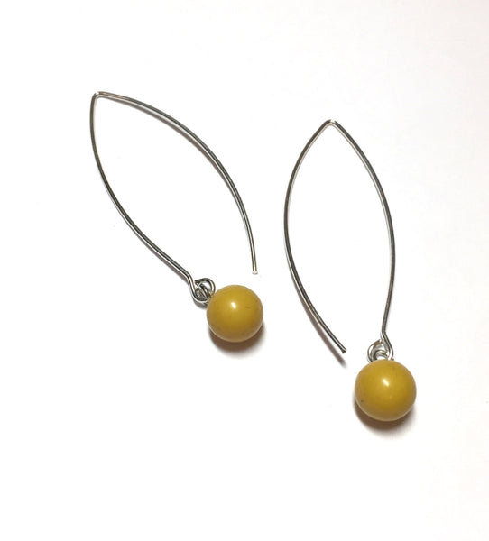 chartreuse long earrings