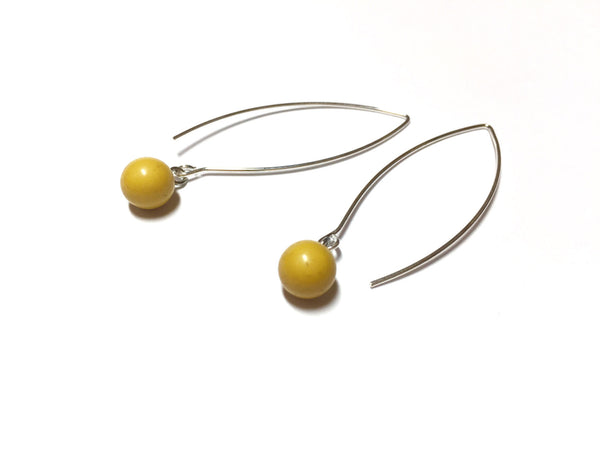 chartreuse raindrop earrings