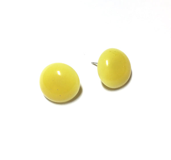 vintage pastel yellow earrings