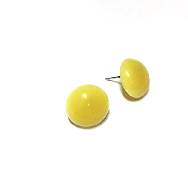 vintage lucite yellow earrings