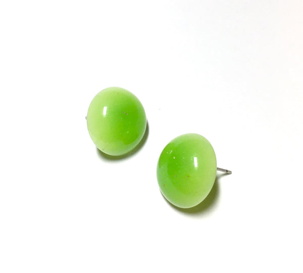 neon green stud earrings