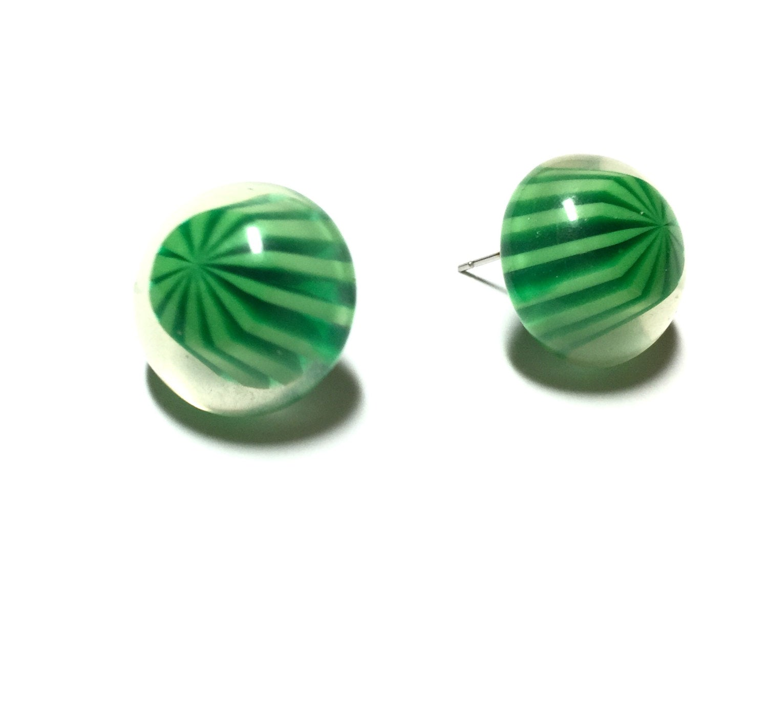 green candy earrings