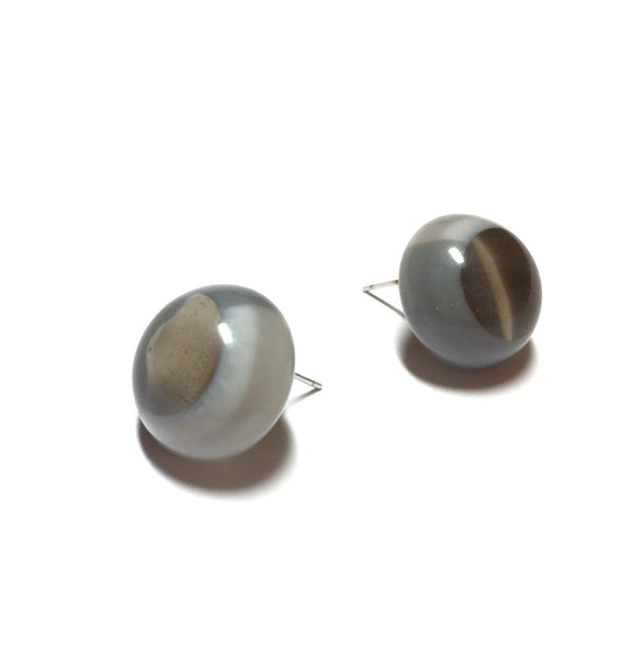 grey post earrings