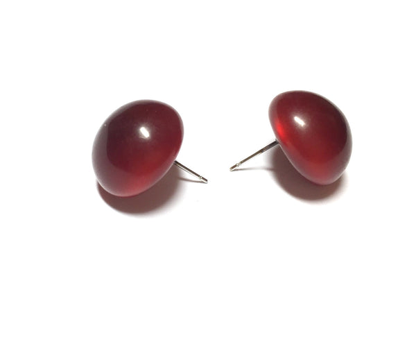 dark red button studs